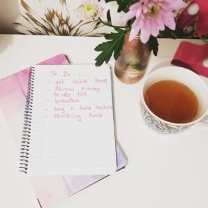 Alice Dartnell Life Success Coach London UK diary on the desk written 'be the change you want to see' plus Calendar plus To Do List