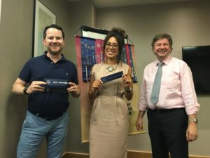Alice Dartnell Life Success Coach  London England winning Alice winning Toastmasters Prize at Toastmasters, Canary Wharf