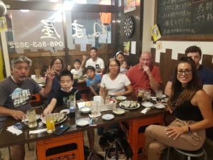 Alice Dartnell Life Success Coach London Consultation leaving restaurant in Japan after dinner with japanese family