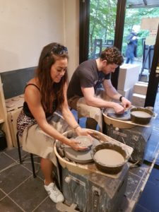 Alice Dartnell Life Success Coach London Consultation doing pottery in Japan with family