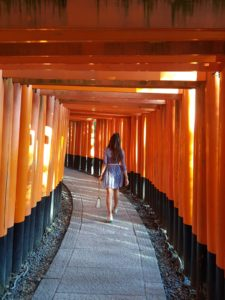 Alice Dartnell Life Success Coach London UK walking through the Arashiyama Bamboo Grove forest in Kyoto Japan