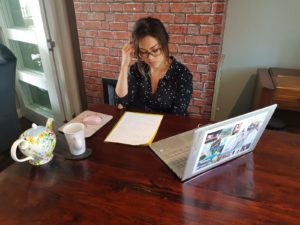 Alice Dartnell Life Success Coach London UK being coached in her morden office London UK