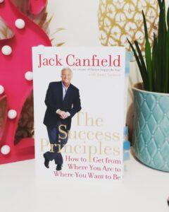 Alice Dartnell Life Success Coach Consultation London book Book Success Principles Jack Canfield sat bookshelf / de