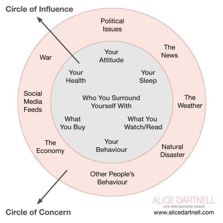 Alice Dartnell Life Success Coach London Consultation Max Lenz Stephen Covey Circle Concern Circle Influence behaviour max lenz