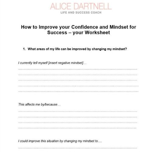 Confidence and Mindset Worksheet