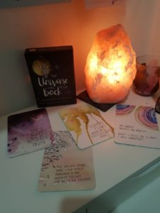 Alice Dartnell Life Success Coach London England bedroom salt lamp by bed snooze wake up