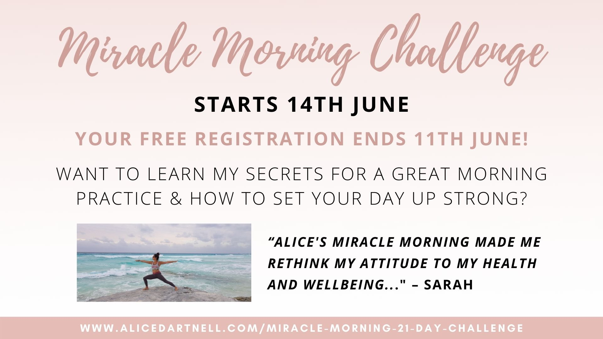 Alice Dartnell London Life Coach Miracle Morning Challenge 2021 Hal Elrod, author