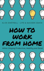 Alice Dartnell Life Success Coach Consultation London How To Work From Home green blue  book kindle cover