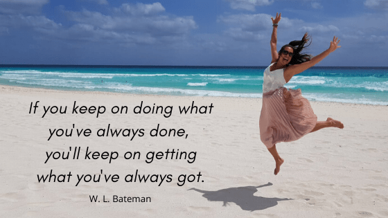 Alice Dartnell life and success coach London personal development training flying beach quote cancun mexico Bateman  if you keep doing quote - landscape