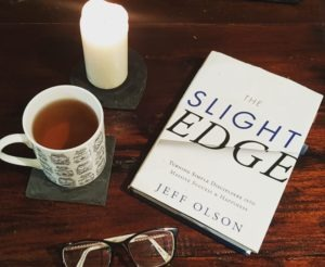 Alice Dartnell Life Success Coach reads Slight Edge by Jeff Olso